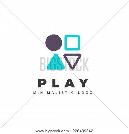 Minimalist Vector Logo For Gamer Resource Or Site. Stylized Joystick Buttons