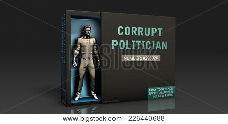 Corrupt Politician Employment Problem and Workplace Issues 3D Render