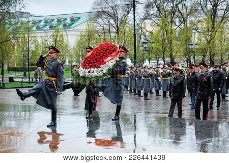 Moscow, Russia - May 08, 2017: The Ministry Of Internal Affairs Of The Russian Federation Delegation
