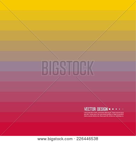 Abstract Background With Rhythmic Rectangular Horizontal Stripes. Transition And Gradation Of Color.