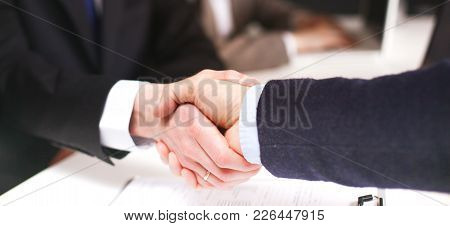 Group Of Business People Working Together On White Background.