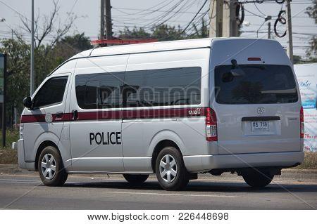 Police Van Car Of Royal Thai Police.
