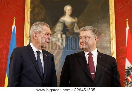 Alexander Van Der Bellen And Petro Poroshenko