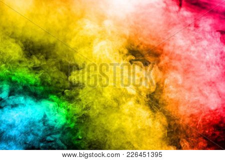 Smog Abstract Background,closeup Multicolored Smoke Use For Abstract Background.