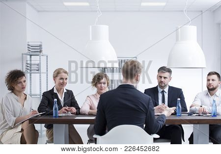 Candidate During Job Interview