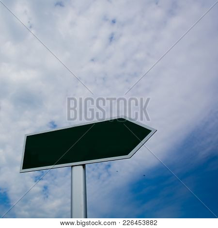 Blank Signpost Over Blue Sky - Just Add Your Text.