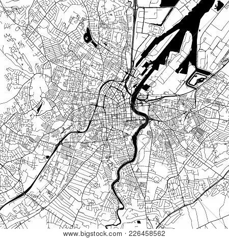 Belfast Downtown Map With Many Details For Various Usecases. This Map Of Belfast Contains Typical La