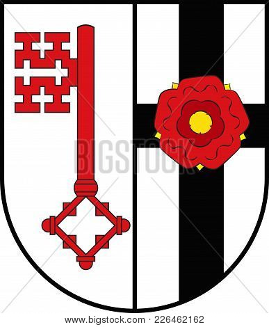 Coat Of Arms Of Soest Is A District In The Middle Of North Rhine-westphalia, Germany. Vector Illustr