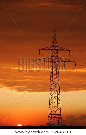 view of cables on pylon