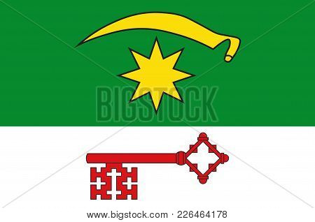 Flag Of Bad Sassendorf Is A Municipality In The District Of Soest, In North Rhine-westphalia, German