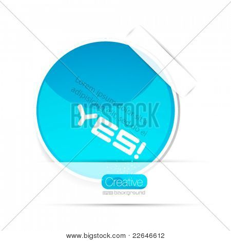 Vector blue paper sticker background