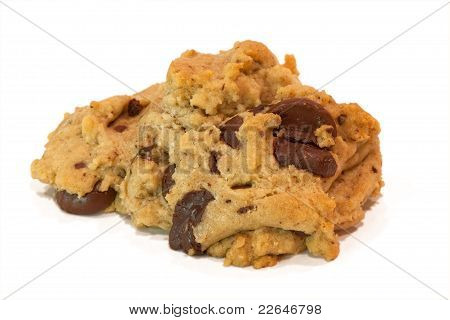 Baked Chocolate Chip Cookie; Isolated
