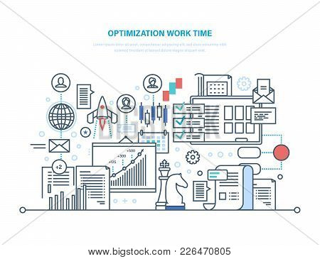Optimization Work Time. Working Process Planning, Workflow Control, Project Objectives, Teamwork. Co