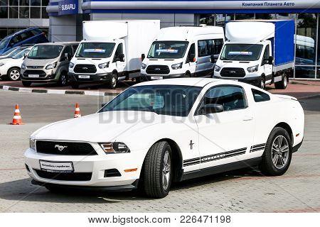 Chelyabinsk, Russia - September 3, 2017: Motor Car Ford Mustang In The City Street.