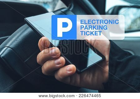 Electronic Car Parking Ticket Purchase With Mobile Smart Phone App