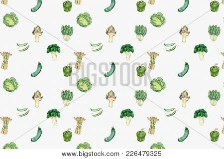 Illustration of vegetable background