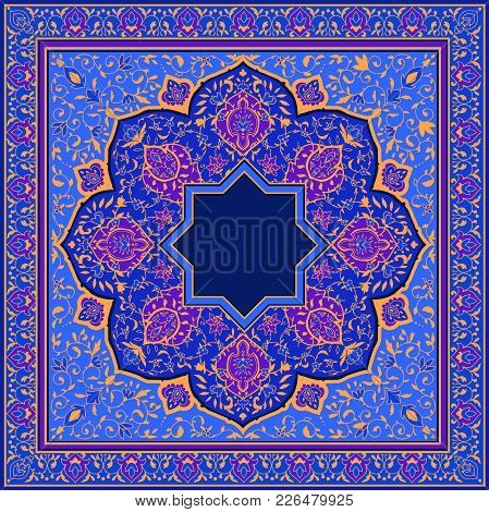 Bright Or Arabic Floral Pattern In Victorian Style. Ornaments For Card For Cafe, Shop, Print, Banner