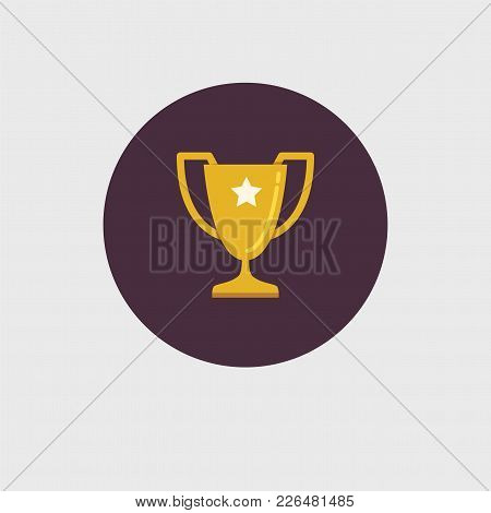 The Winner's Trophy With A Star