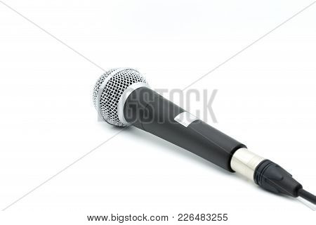 Omni Directional Microphone Isolated On White Background.
