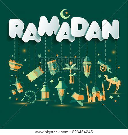 Ramadan Kareem Greting Illustration Of Ramadan Kareem