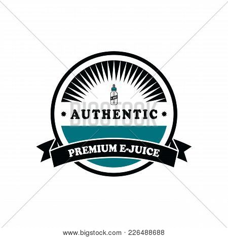 Personal Vaporizer E-cigarette E-juice Liquid Label Badge Set