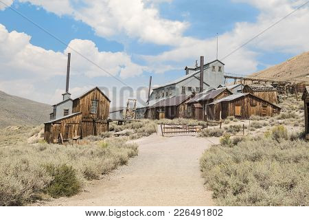 Bodie, California, Usa - August 31, 2017 : Old Buildings In Bodie Ghost Town, California. Bodie Is A