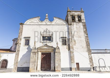 Santa Maria Church In Serpa City, Alentejo, District Of Beja, Portugal