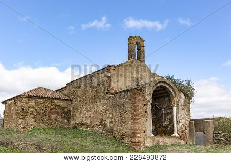 Ruins Of An Abandoned Church In Portel Town, District Of Evora, Portugal
