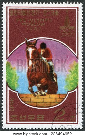 North Korea - Circa 1978: A Stamp Printed In North Korea, Is Devoted To The Olympic Games In Moscow,