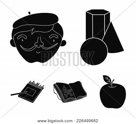Geometric Still Life, A Self-portrait Of The Artist, A Notebook With Drawings, A Box Of Colored Penc