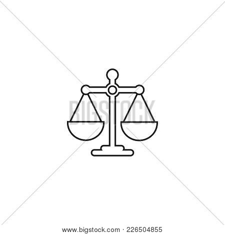 Scales Balance Online Icon On White Background