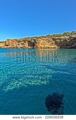The Coast On A Blue Day In Ibiza