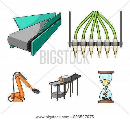 Modern Equipment And Other  Icon In Cartoon Style.machine Tools And Equipment Factory Icons In Set C