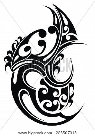 Tribal Art Tattoo. Abstract Tattoo Symbol For Your Design