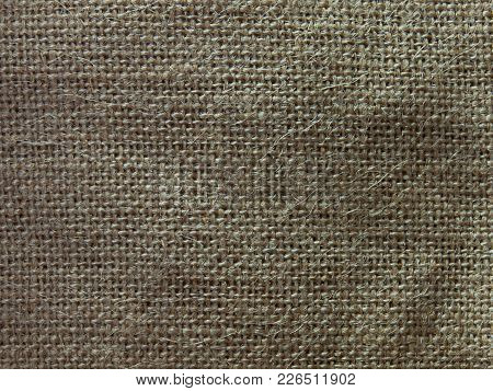 Natural Sackcloth Texture , Used For Background Image , Or Design Work.