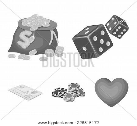 Excitement, Recreation, Hobby And Other  Icon In Monochrome Style.casino, Institution, Entertainment