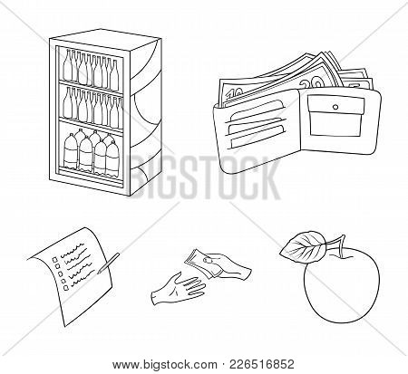Purchase, Goods, Shopping, Showcase .supermarket Set Collection Icons In Outline Style Vector Symbol