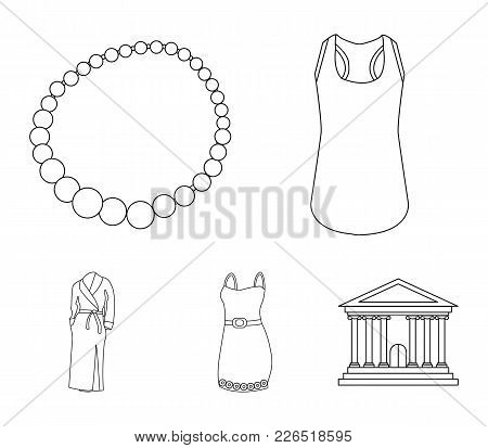 T-shirt, Beads, Summer Women's Sarafan On Straps With A Belt, A Home Gown. Women's Clothing Set Coll