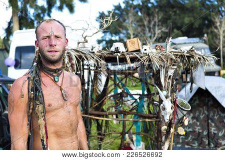 Hippy Man With Dreadlocks At The Flea Market, Aka Gypsy Market