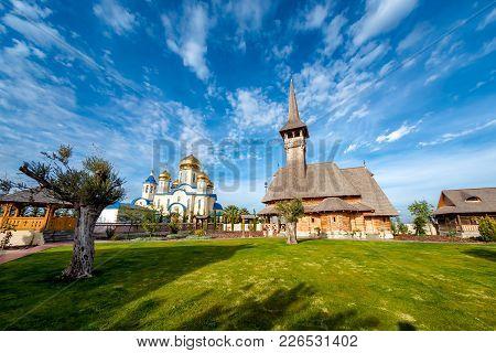 Russian And Romanian Orthodox Churches. Episkopeio Village, Nicosia District, Cyprus.