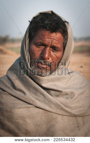 Ajmer, India - 18th February 2015 : Portrait Of An Indian Male. The Shot Was Taken At Ajmer, India