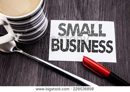 Conceptual Hand Writing Text Caption Showing Small Business. Business Concept For Family Owned Compa