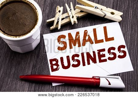 Hand Writing Text Caption Inspiration Showing Small Business. Business Concept For Family Owned Comp