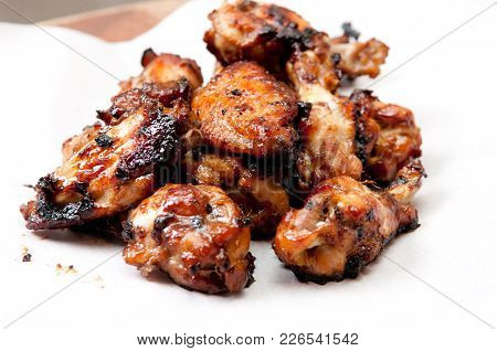 Beautiful Oven Roasted Chicken Wings With Barbeque Sauce