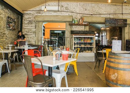 Arrowtown / New Zealand - November 5 2017: Table And Chair With Vintage Interior Design In Italian R