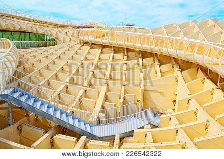 Observation Platform Metropol Parasol, Locally Also Known As Las Setas. Spain.