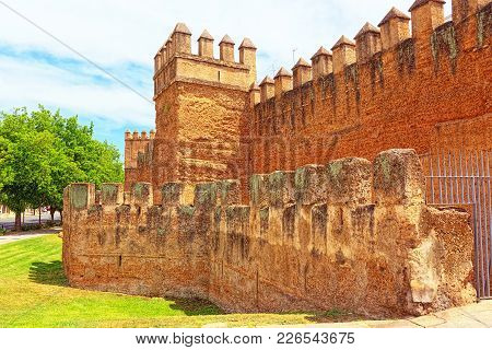Wall Of Seville (muralla Almohade De Sevilla) Are A Series Of De