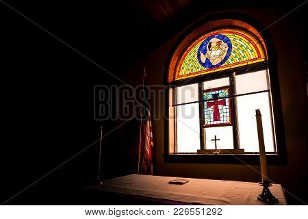 Mcmurdo Station / Antarctica - January 4, 2015: Chapel Of The Snows Interior