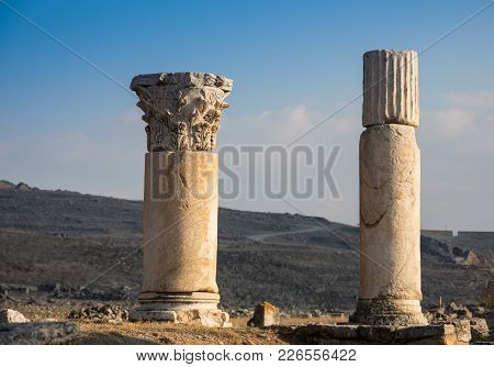 Ionic Order, Column In The Ancient Olympia.