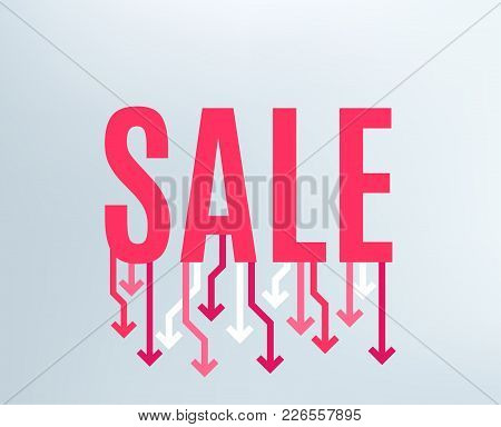 Sale Banner. Special Offer Background. Best Sale Banner With Arrows. Price Reduction. Market Clearan